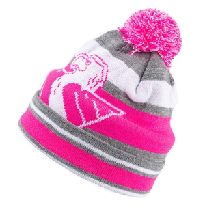 Beanie pink - gray for ladies - 2nd beanie FREE