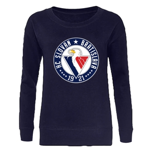 Women sweatshirt basic with circular logo - navy