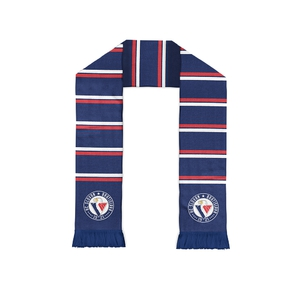 Scarf with stripes and stitching HC Slovan