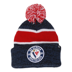 Beanie for kids with white - red strips '47