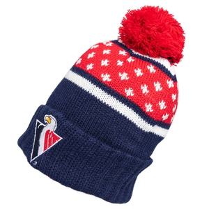 Navy beanie with white flakes for adults