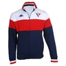 Hoodie for adult tricolore with zips