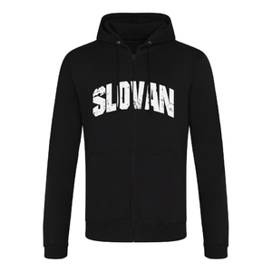 Men's black sweatshirt with Slovan inscription