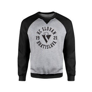 Men's grey- black sweatshirt with logo HC Slovan