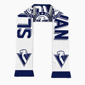 Double sided Scarf knitted half logo HC Slovan
