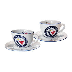 Milada set of cups + saucers with HC Slovan logo