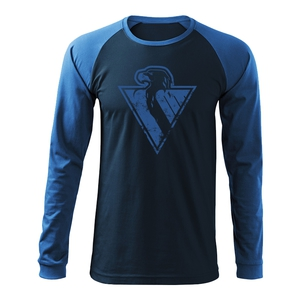 T-shirt men long sleeve eagle in patina HC Slovan