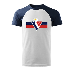 T-shirt men color sleeve eagle in circle HC Slovan